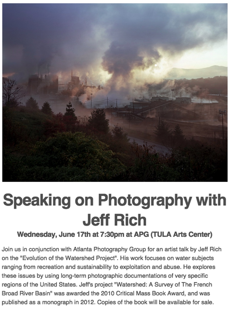 Jeff Rich, on Photography and Watersheds at APG, Wed., June 17th