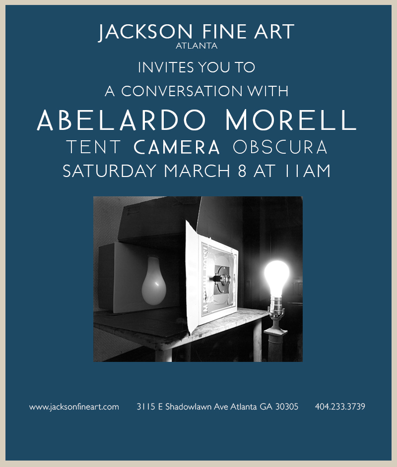 It's Abelardo Morell Week Here in Atlanta!