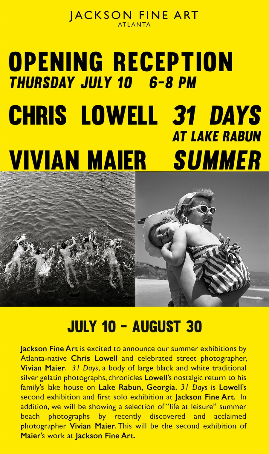 Vivian Maier & Chris Lowell Open at Jackson Fine Art, Thurs., July 10th