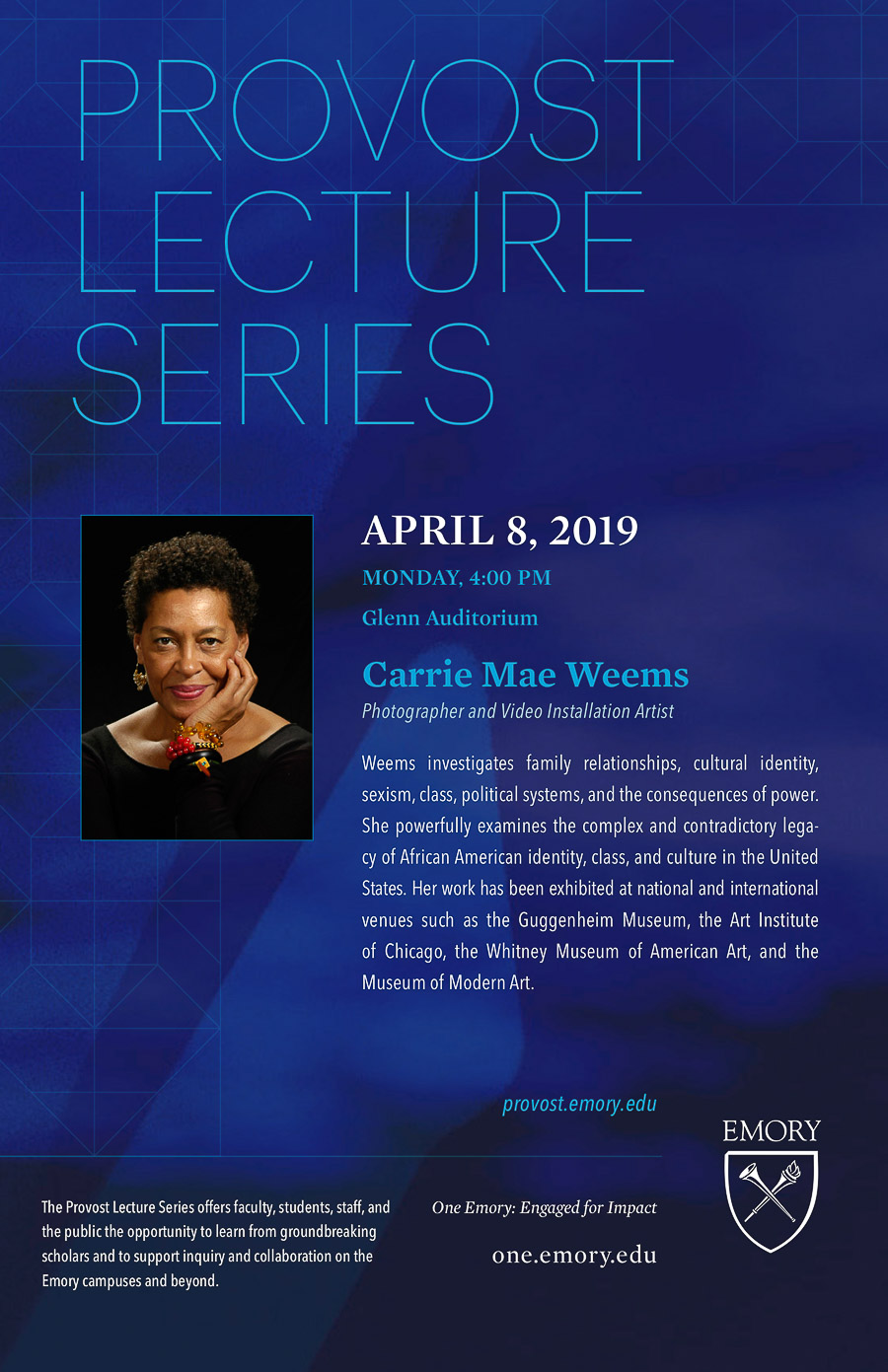 Carrie Mae Weems - Lecture at Emory, April 8