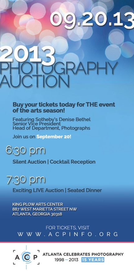 Save The Date! Atlanta Celebrates Photography - Photography Auction